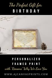 reasons why i love you wood signs sentimental gifts for mom gifts for dad 30th birthday