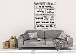 in this house wall decal house decal home wall decal wall decor family wall decal house rules vinyl decal wall decal