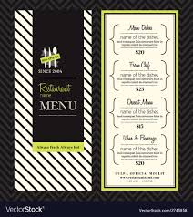 Restaurant Menu Design Templates Modern Restaurant Menu Design Template Layout Vector Image