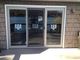 3 panel sliding patio door plain throughout
