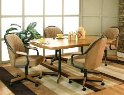 dining room table and chairs with casters dining room table and chairs with casters large size
