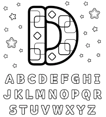 Small Picture Printable Alphabet Coloring Pages Letter D Is For Dog Alphabet
