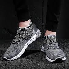 MoneRffi <b>Women Knitted Vulcanized</b> Flat Shoes Slip On Sock Air ...