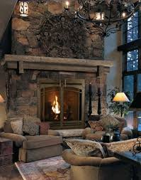 stone fireplace with mantle and hearth it s ok but i really like the furniture sitting in