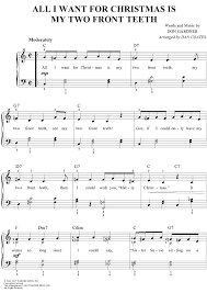 all i want for christmas is my two front teeth sheet music all i want for christmas is my two front teeth sheet music for