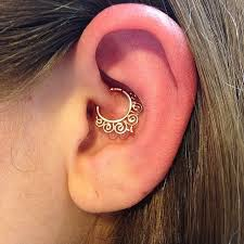 jason deeprootstattoo did this great daith piercing at the university our rose gold
