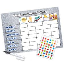 Bedtime Reward Chart Reward Chart Bedtime A4 Silver Glitter