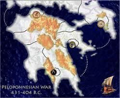 peloponnesian war map peloponnesian war
