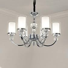 qingming 6 light candle style chandelier uplight electroplated metal glass crystal mini