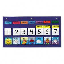 Carson Dellosa Weekly Calendar Weather 21 Pocket Chart