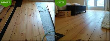 installation of reclaimed antique wide pine plank floors