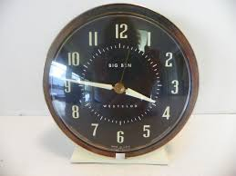 vintage westclox big ben wind up alarm clock ivory w gold trim 1 of 4