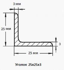 <b>Уголок 25х25х3</b> по цене за метр - купить в Москве выгодно