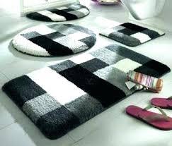 black bathroom rug set black and white bath rug set black bathroom rugs fancy design black