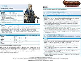 character sheet pathfinder paizo com community use package pathfinder adventure card game