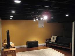 Cool Inspiration How To Paint Basement Ceiling Awesome Painted