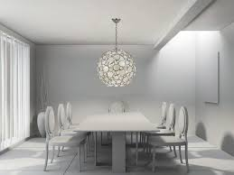 image of modern crystal chandelier dining room