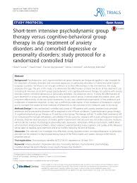 Short Term Intensive Psychodynamic Group Therapy Versus