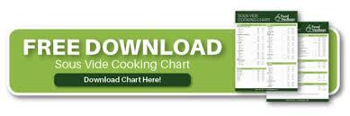 Sous Vide Temperature Chart Sous Vide Cooking Chart Foodvacbags