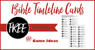 Free Printable Bible Timeline Cards Bible Journal Love
