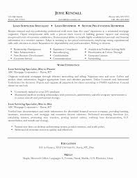 Loan Specialist Sample Resume Stunning Loan Operations Resume Sample Beautiful Top 48 Operation Associate