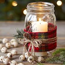 Decorated Christmas Jars Ideas Winter decorations DIY very cute to beautify your home Here are 8