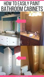 before and after white painted bathroom cabinets how to paint bathroom cabinets tutorial