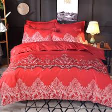 red bed set lace fl pattern duvet cover with pillowcase brief bedding single full queen king size bedlinen king size duvet cover white duvet cover queen