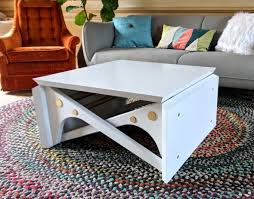 convertible coffee table tutorial and