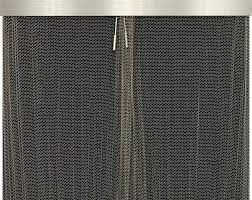 stoll fireplace outdoor hanging mesh in natural stainless