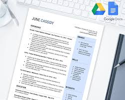 Simple And Bold Editable Resume Template For Google Docs Google Drive