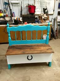 old pallet furniture. Recycled Pallet And Old Headboard Bench Furniture