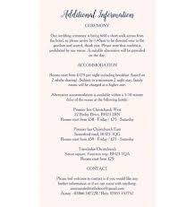 Wedding Invitation Information Card Template Word Insert For Website
