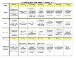 Bi Weekly Meal Planner Template Bi Weekly Meal Planner Template Barca Fontanacountryinn Com