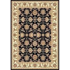 black oriental rug wool