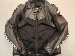 details about alpinestars smx air flo sport leather motorcycle motorbike jacket usa 42 eu 52