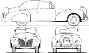 Blueprints > cars > lincoln > lincoln zephyr continental v12