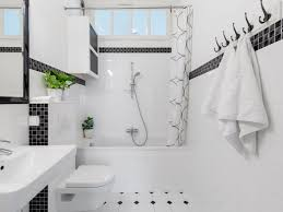 Small bathroom design with shower room. 19 Inspirational Black And White Bathrooms