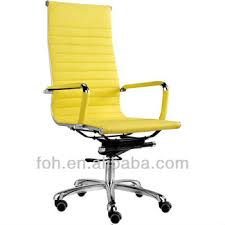 colorful office chair. Perfect Office Colorful Office Chair Yellow Leather With Casters FOHF11A03  To A