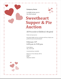Valentines Day Invitations Classy Valentine's Day Sweetheart Pie Auction Invitation