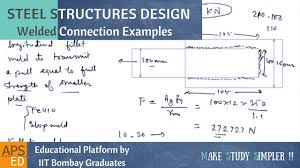 Hss Beam Design Example Welded Connection Design Examples Design Of Steel Structures