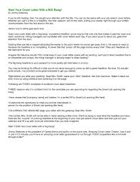Cover Letters How To Start Letter For Job Fascinating A Address With