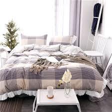 black and white king size duvet covers 100 cotton grey plaid girls bedding set black white