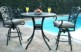 outdoor high top bistro table and chairs high