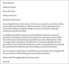 sample nurse resignation lettersample nursing resignation letter