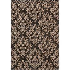 courtyard black cream 4 ft x 6 ft indoor outdoor area rug