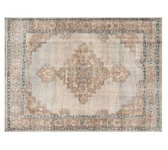 finn hand knotted rug blue multi pottery barn hand knotted rugs for