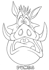 Small Picture Pumba scared the lion king coloring page