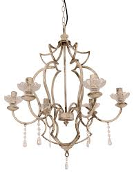 freja antique white chandelier