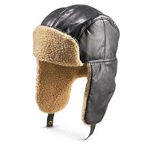 guide gear cabretta leather aviator hat black flaps go up or down for warmth